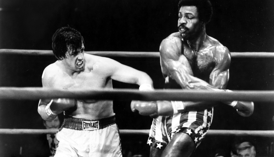 Actors Sylvester Stallone and Carl Weathers in the final fight in Rocky | Photo: Michael Ochs Archives/Getty Images