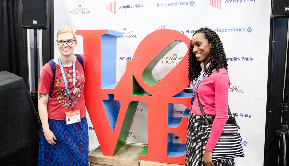 Scene from the Philly booth at SXSW 2016. Photo courtesy of PSL.