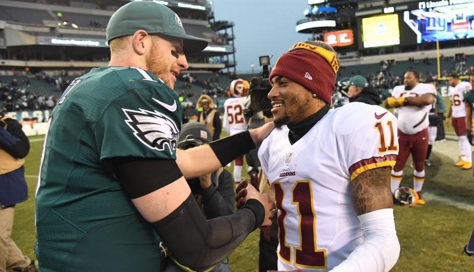 Carson Wentz and DeSean Jackson. (USA Today Sports)