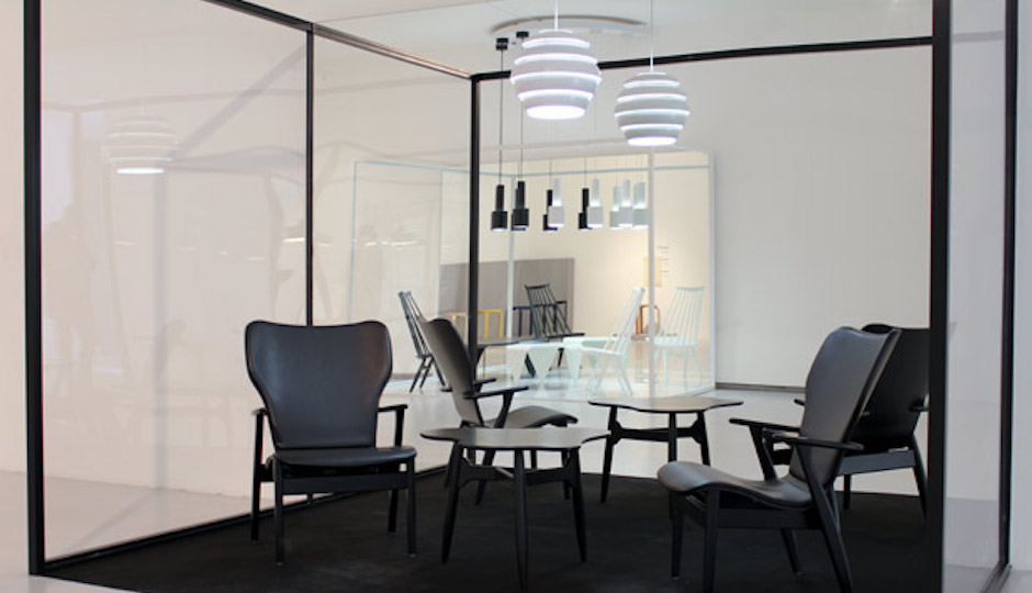Aalto's clean lines define both his lighting and his furniture; the other two designs in the Artek lighting line available in the US are shown here.