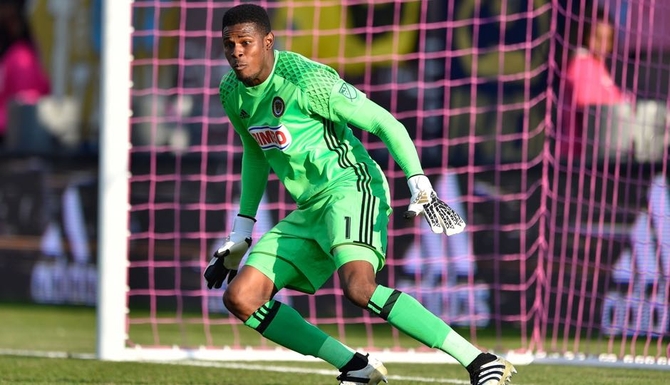Philadelphia Union goalkeeper Andre Blake (1) during the second half against the Orlando City FC on Oct. 16, 2016 at Talen Energy Stadium. Orlando won 2-0. Photo | Derik Hamilton-USA TODAY Sports