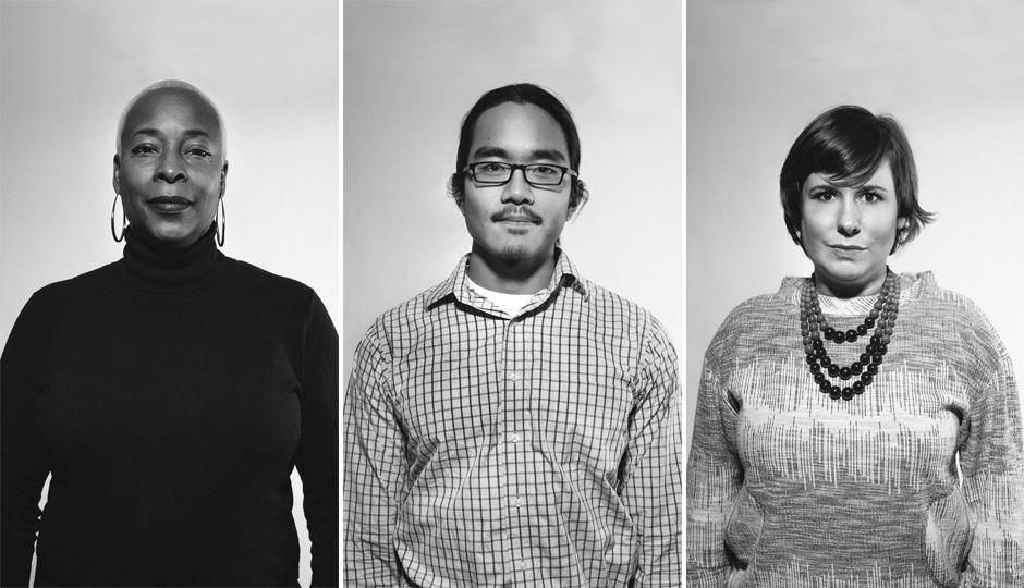 Left to right: Kecia Hillard, Democrat; Roger Cho, Democrat; Michelle Mattus, Republican | Photographs by Claudia Gavin