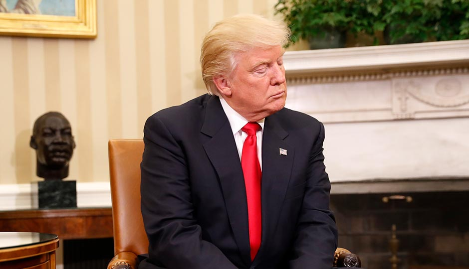 President-elect Donald Trump in the Oval Office on November 10, 2016. Photo: Pablo Martinez Monsivais/AP
