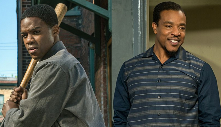 Jovan Adepo, left, and Russell Hornsby in Fences. Photo courtesy of David Lee/Paramount Pictures