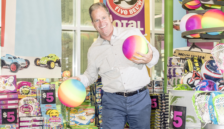 Five Below CEO Joel Anderson, who oversees the company's 523 stores | Photograph by Christopher Leaman