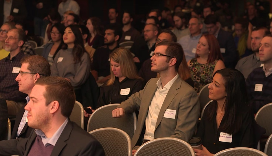 The 2015 Founder Factory audience. Photo via YouTube.
