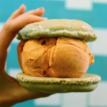 Little Baby's non-dairy Thai Iced Tea ice cream sandwiched between a gluten-free macaron | Photo via Instagram