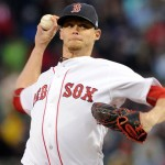 Clay Buchholz pitching for the Red Sox