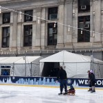 Rothman ice rink skaters