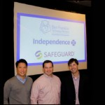 From left to right: David Luk, principal at Safeguard Scientifics; Scott Nissenbaum, chief investment officer at Ben Franklin Technology Partners; Tom Olenzak, managing director, strategic innovation portfolios at Independence Blue Cross at PSL's Founder Factory. Image courtesy of Safeguard Scientifics.