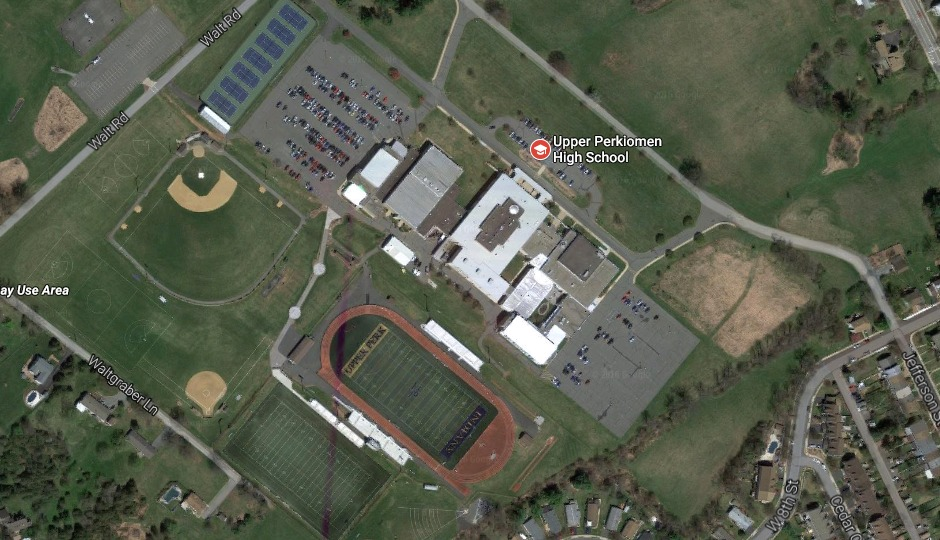 Upper Perkiomen High School via Google Maps.