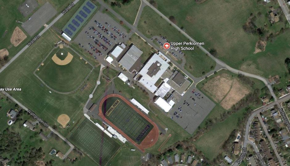 Upper Perkiomen High School via Google Maps.