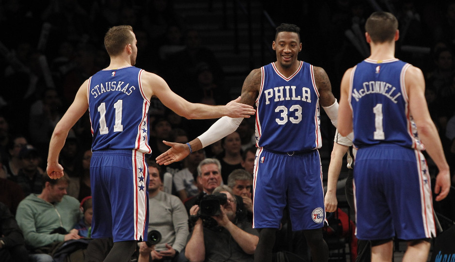The Sixers defeated the Brooklyn Nets 105-95 Sunday afternoon at the Barclays Center, matching their win total from last season | Nicole Sweet-USA TODAY Sports