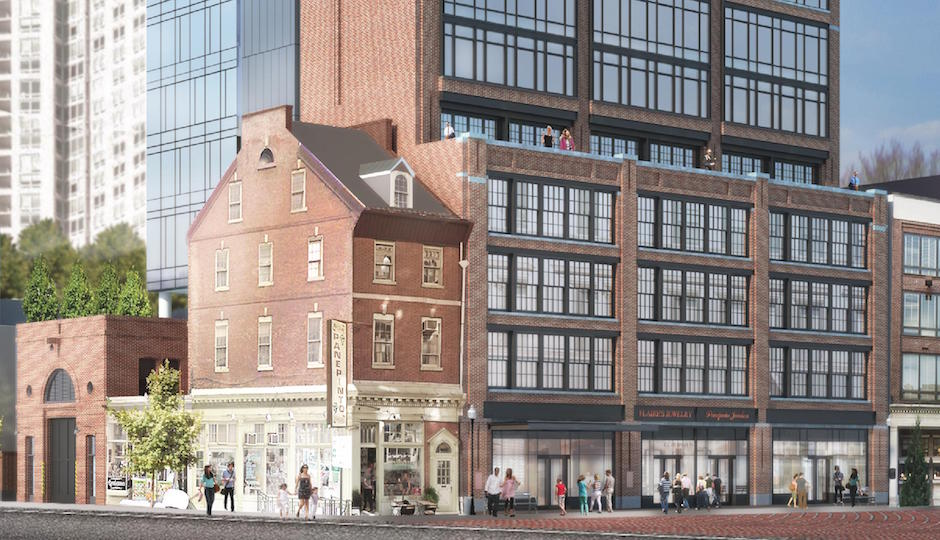 The Sansom Street elevation of the proposed Toll Brothers condo tower. | Rendering: SLCE Architects
