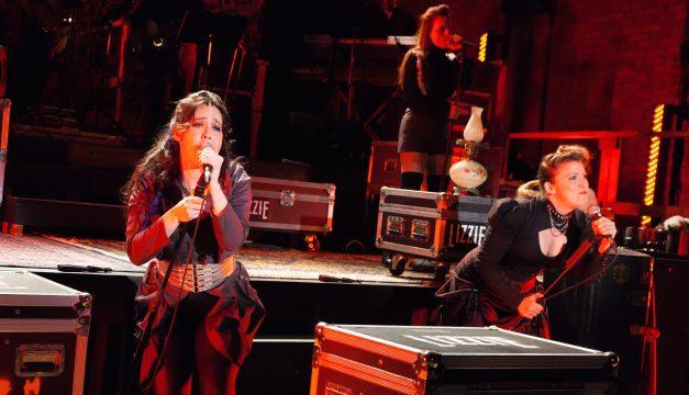 Alex Keiper, Rachel Brennan, and Cara Noel Antosca in Lizzie at 11th Hour. (Photo by Daniel Kontz)