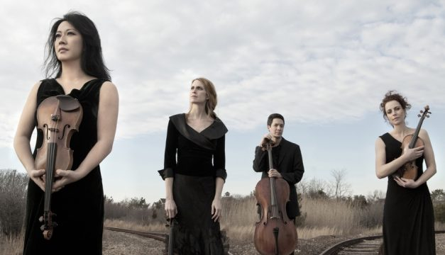 The Daedalus Quartet performs at the Penn Museum on Friday. Photo by Lisa Marie Mazzucco