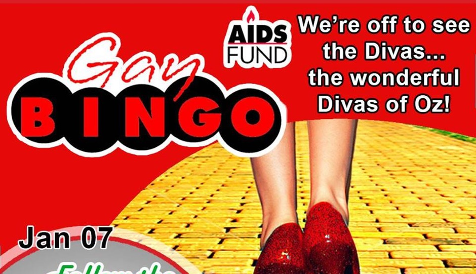 """GayBINGO is going """"over the yellow brick broad"""" this Saturday night."""