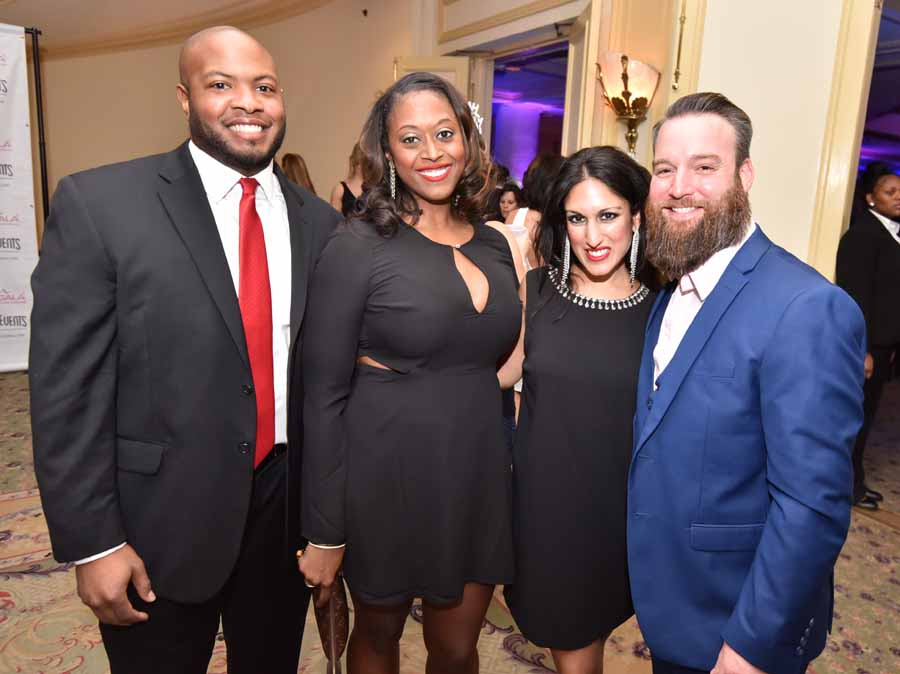 Jared and Jessica Cook, with Anita Seth and Brandon Blackburn-Dwyer