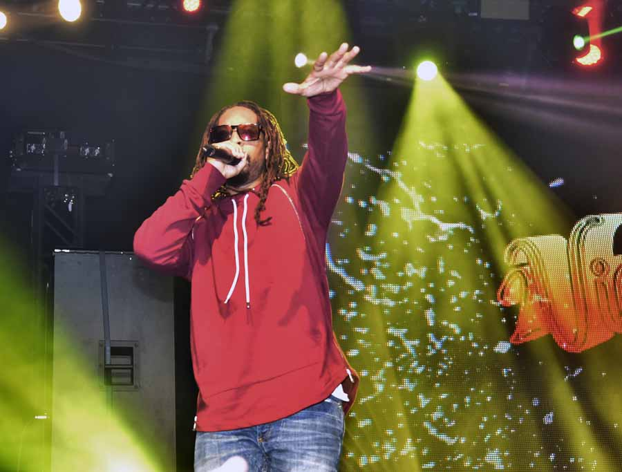 Headliner Lil Jon performs at The Fillmore.