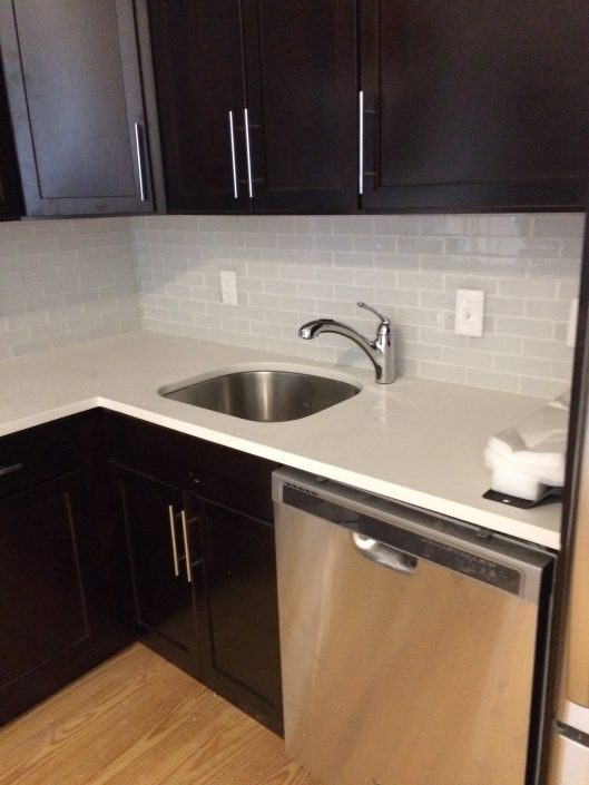Hard hat tour the amperium philadelphia magazine for Chocolate kitchen cabinets with stainless steel appliances