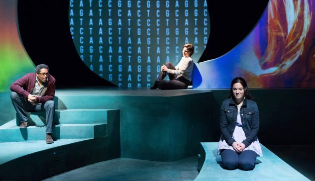 Lindsay Smiling, Kittson O'Neill, and Samantha Bowling in Informed Consent at Lantern Theater. (Photo by Mark Garvin)