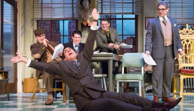 The Cast of Laughter on the 23rd Floor at Walnut Street Theatre. (Photo by Mark Garvin)