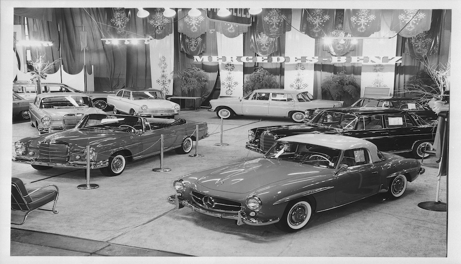 Mercedes-Benz display at the Philadelphia Auto Show in the 1960's. | Images courtesy of Brownstein Group