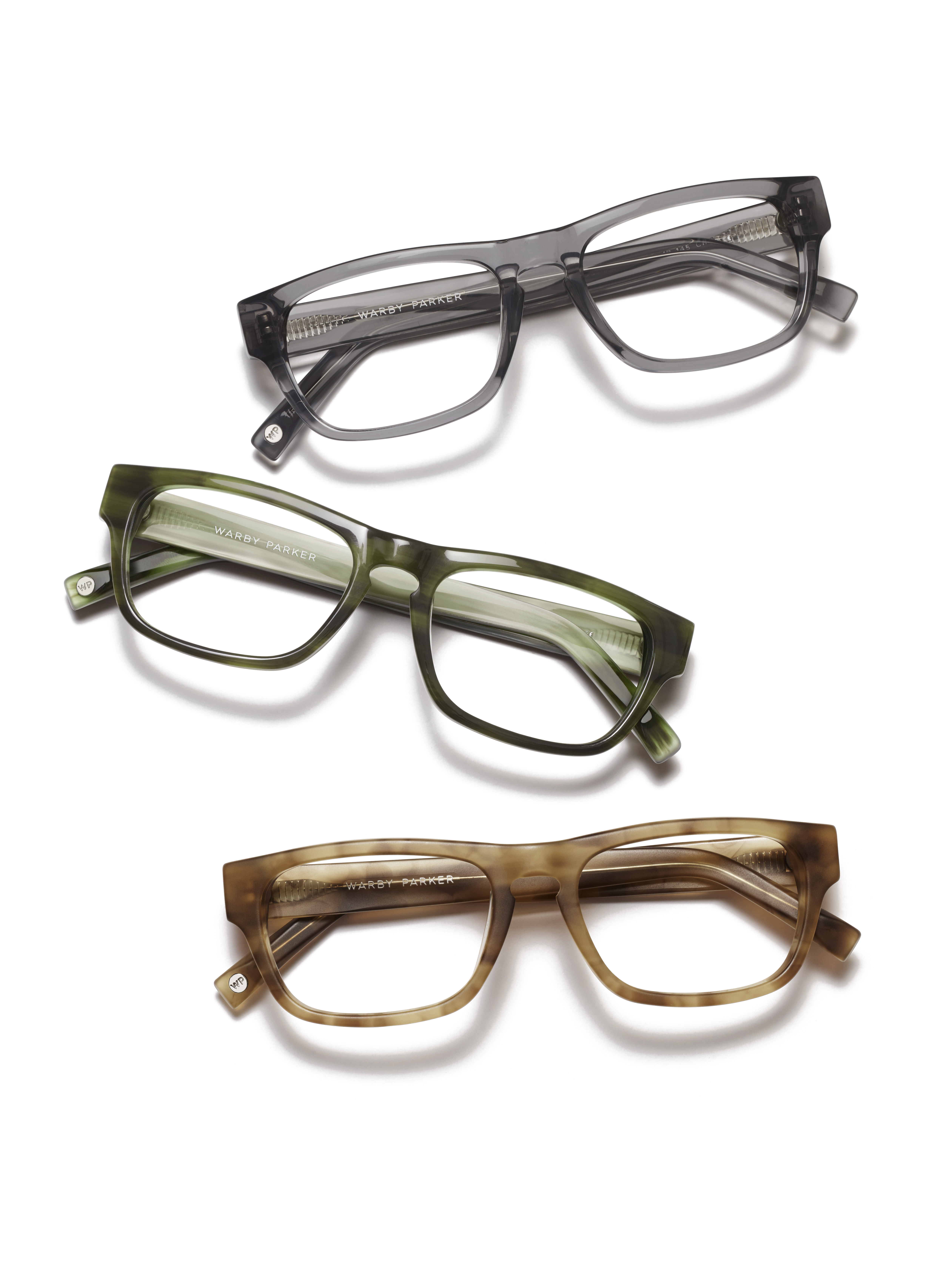 The Roosevelt Collection in Sandalwood Matte, Mallard Green, and Early Grey sold exclusively at the Walnut Street store.