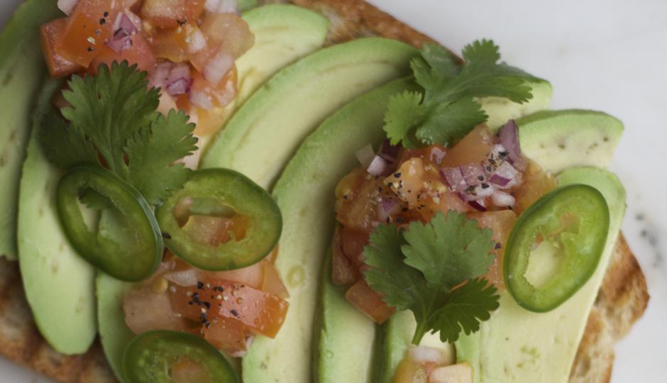 Avocado toast at the Juice Merchant | Photo courtesy the Juice Merchant