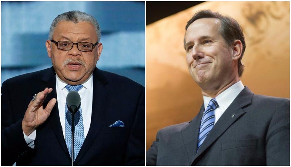 L: Charles Ramsey (AP Photo/J. Scott Applewhite)   R: Rick Santorum (Christopher Halloran / Shutterstock.com)