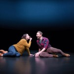Sarah Gliko and Jered McLenigan in Constellations at the Wilma Theater. (Photo by Alexander Iziliaev)