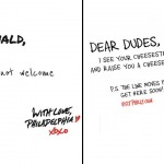 Left: The problematic image. Right: An official advertisement from Visit Philly.