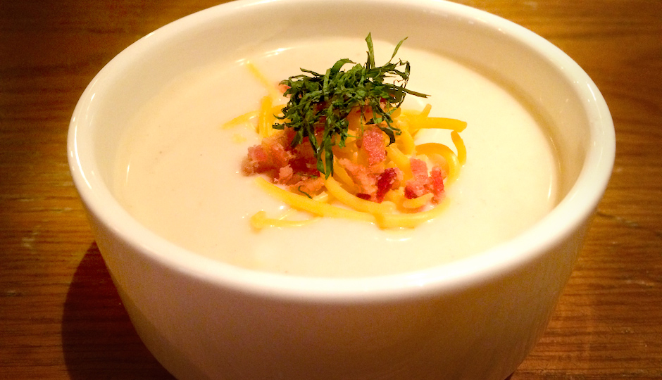 You can get this loaded baked potato soup for free today. Why? Because it's really, really cold outside.