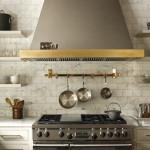 Open shelves in a Villanova kitchen designed by Ashli Mizell | Photograph by Jason Varney