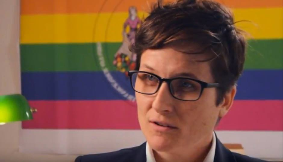 Nellie Fitzpatrick, director of the Office of LGBT Affairs. (Screen capture from Philly 311 video)