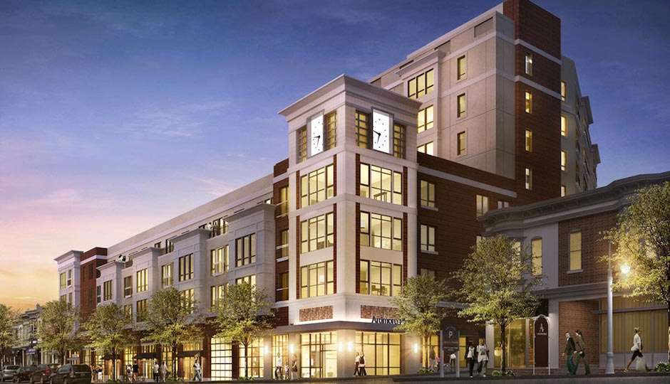 New luxury developments such as Carl Dranoff's upcoming One Ardmore Place are reshaping suburban downtowns. They're giving older Main Streets a shot in the arm, but bringing with them some of the same worries about displacing poorer residents. | Image: Dranoff Properties