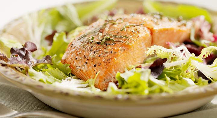 Warm Salmon & Asparagus Salad