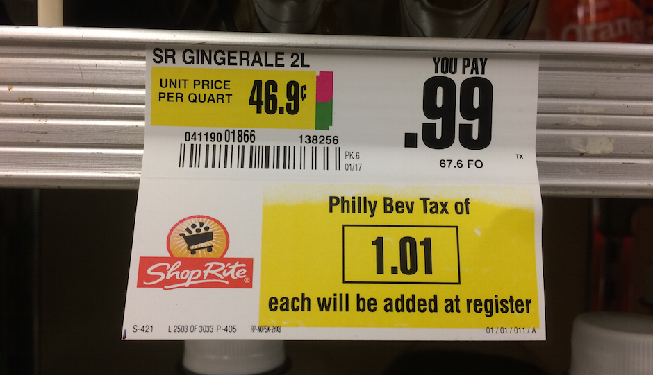 A 99-cent bottle of ginger ale becomes $2 at ShopRite. (Photo by Aria Fiorillo)