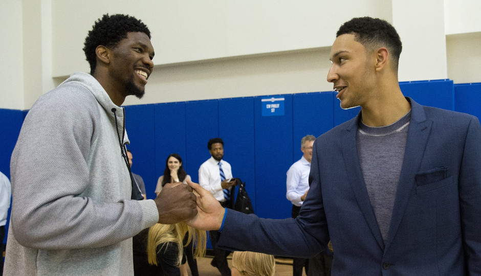 Developing chemistry between Joel Embiid and Ben Simmons will be key for the Sixers in 2017 | Bill Streicher-USA TODAY Sports