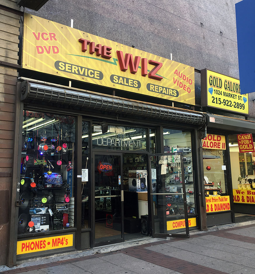 The Wiz, electronics store on Market Street