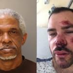 Left: Former Uber driver Major Fuller. (University of Pennsylvania Police Department) Right: Cherry Hill resident Joseph Fusco, the man Fuller stands accused of beating.