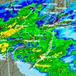 Radar image via NWS