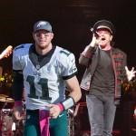 U2 with Carson Wentz photoshopped in