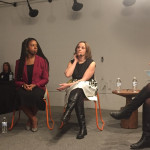 "From left to right: Comcast's director of entrepreneurial engagement Danielle Cohn; Stimulus CEO Tiffanie Stanard; Salesforce VP of SMB Sales Stephanie Glenn; and Robin Hood Ventures executive director Ellen Weber at WeWork's first ""Future of Philly"" event at their Northern Liberties location."
