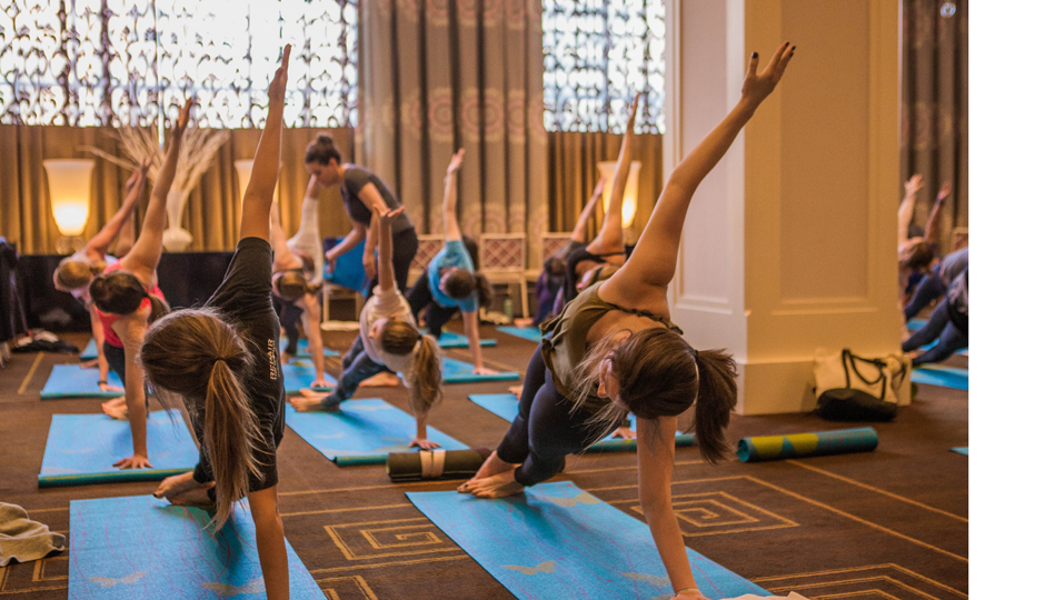 Yoga at last year's Resolution Rx event | Photo by Joe Longo