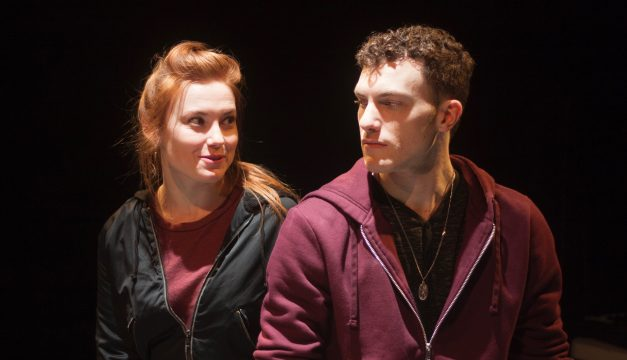 Katie Stahl and Liam Mulshine in Leper & Chip at Inis Nua. (Photo by Katie Reing)