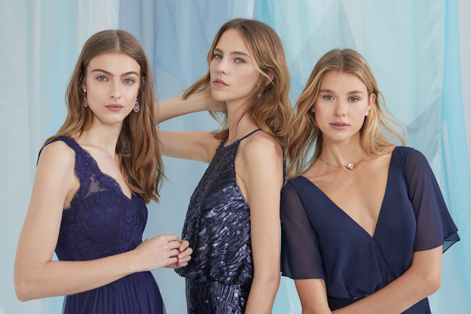 Pick a shade, and let your ladies choose their style. All photos courtesy of BHLDN.