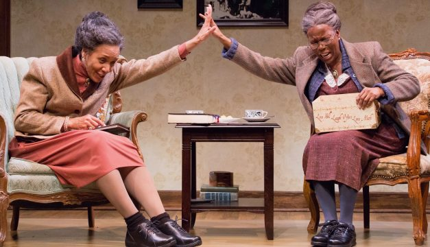 Perri Gaffney and Cherene Snow in Having Our Say at Philadelphia Theatre Company. (Photo by Mark Garvin)