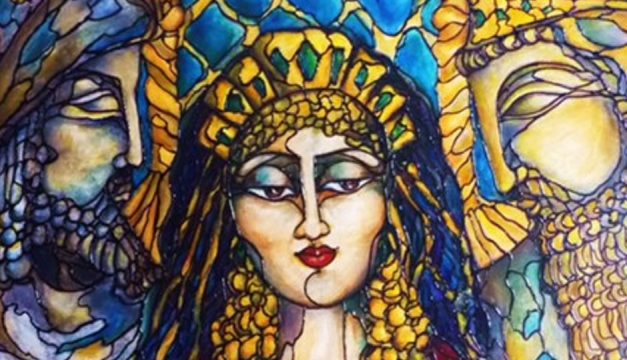 A section of Rae Chichilnitsky's Queen Esther, on display at the Old City Jewish Arts Center.