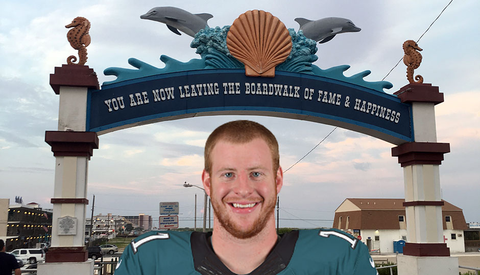 Carson Wentz in North Wildwood